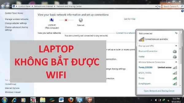 Hướng dẫn cách khắc phục lỗi laptop không bắt được wifi Win 7