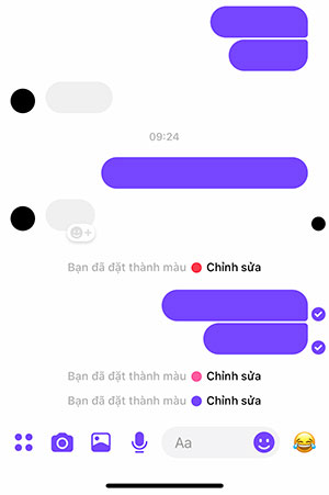 Cách biến đổi màu messenger