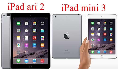 ipad ari 2 và mini 3