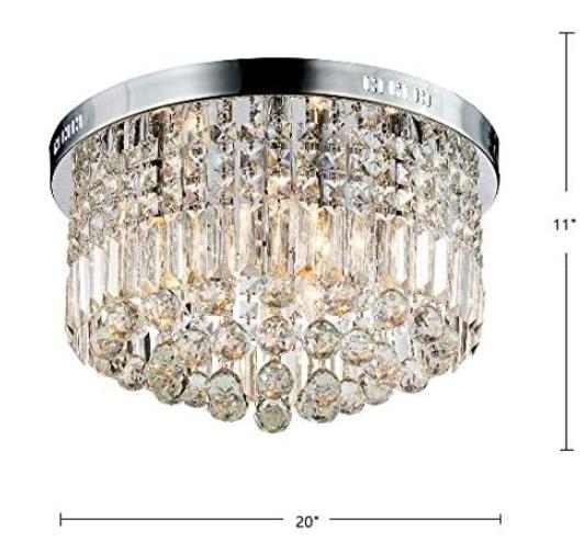 4 mẫu đèn mâm pha lê cao cấp, giá rẻ nhất 2020