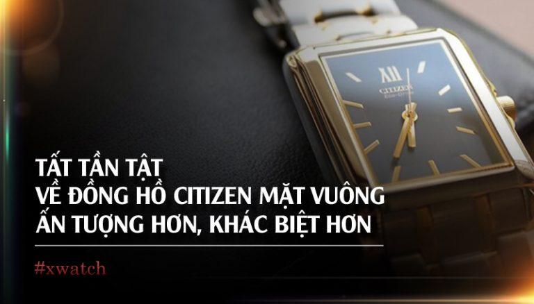 đồng hồ citizen mặt vuông