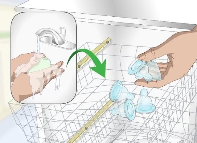 Có thể sử dụng máy rửa chén để vệ sinh ty ngậm Pigeon nội địa Nhật